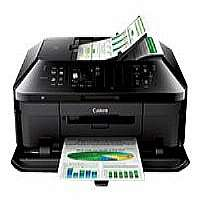 Canon PIXMA MX922 - Multifunction printer - color - ink-jet - Legal (8.5 in x 14 in) (original) - up to 15 ipm (printing) - 250 sheets - 33.6 Kbps - USB 2.0, LAN, Wi-Fi(n) with Canon InstantExchange