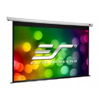 Elite Spectrum Series Electric120V - Projection screen - ceiling mountable, wall mountable - motorized - 120 in (120.1 in) - 4:3 - Matte White - white
