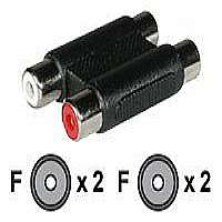 C2G RCA Stereo Audio F/F Coupler - Audio coupler - RCA (F) to RCA (F) - (40646)