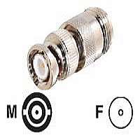 C2G - Video / audio adapter - BNC (M) - to - N-Series connector (F) - coaxial - silver (42217)