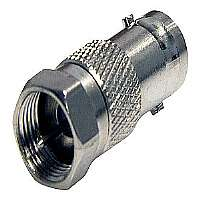 StarTech.com BNC to F Type Coaxial Adapter - Antenna adapter - BNC (F) - F connector (M) - coaxial - silver