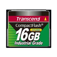 Transcend CF200I Industrial Grade - Flash memory card - 16 GB - CompactFlash