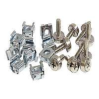 StarTech.com M5 Mounting Screws and Cage Nuts for Server Rack Cabinet - Rack screws and nuts (pack of 50 )