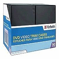 Verbatim DVD Video Trimcases - Storage DVD jewel case - capacity: 1 DVD - black (pack of 50 )