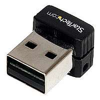 StarTech.com USB 150Mbps Mini Wireless N Network Adapter - Network adapter - USB 2.0 - 802.11b, 802.11g, 802.11n (USB150WN1X1)