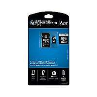 HP - Flash memory card ( microSDHC to SD adapter included ) - 16 GB - Class 10 - microSDHC