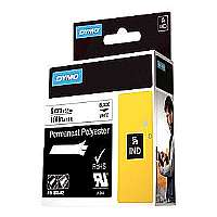 DYMO Rhino Permanent Polyester  adhesive tape-Roll (0.24 in x 18 ft)-1 roll(s)-for Rhino 6000, 6000 Hard Case Kit-1805442