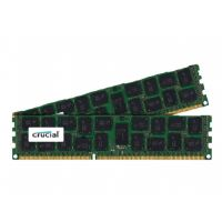 Crucial - DDR3 - 16 GB : 2 x 8 GB - DIMM 240-pin - 1600 MHz / PC3-12800 - registered - ECC (CT2K8G3ERSLD4160B)