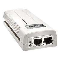Dell SonicWALL 802.3at Gigabit PoE Injector - Power injector - AC 90-264 V - 15.4 Watt - 1 output connector(s)