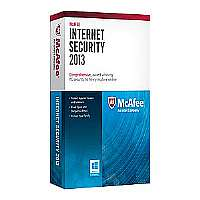 McAfee Internet Security 2013 - Subscription package ( 1 year ) - 3 PCs - DVD - Win - English
