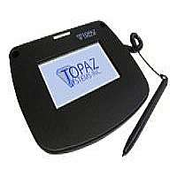 Topaz SigLiteColor 4.3 T-LBK43LC-HSB-R - Stylus, signature terminal w/ LCD display - 4.6 x 3.4 in - wired - USB
