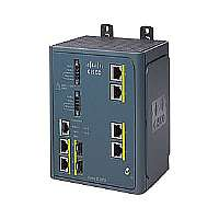Cisco Industrial Ethernet 3000 Series - Switch - managed - 4 x 10/100 + 2 x combo Gigabit SFP - DIN rail mountable