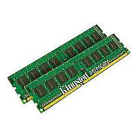 Kingston ValueRAM - DDR3 - 8 GB : 2 x 4 GB - DIMM 240-pin - 1333 MHz / PC3-10600 - CL9 - 1.5 V - unbuffered - non-ECC