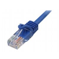 StarTech.com Snagless Cat 5e UTP Patch Cable - Patch cable - RJ-45 (M) to RJ-45 (M) - 35 ft - UTP - CAT 5e - snagless - blue - for P/N: ST121UTPMINI, ST121RGB, ST121EXTGB, ST121R, ST121EXT, ST121UTPGB