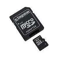 Kingston - Flash memory card ( microSDHC to SD adapter included ) - 4 GB - Class 10 - microSDHC