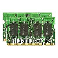 Kingston Memory 4 GB : 2 x 2 GB-SO DIMM 200-pin-DDR2-800 MHz / PC2-6400-unbuffered-non-ECC-KTA-MB800K2/4G