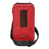 Cocoon CGB150 Messenger Sling - Sling bag for tablet - 1680D ballistic nylon - racing red - for Apple iPad 1; 2; iPhone 3G, 3GS, 4; iPod touch (CGB150RD)