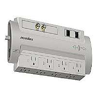 PANAMAX SP8-AV 8-OUTLET SURGEPROTECTOR 8(TM) AUDIO/VIDEO WITH COAXIAL and TELEPHONE PROTECTION