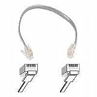 Belkin PRO Series - Phone cable - 8 in - clear