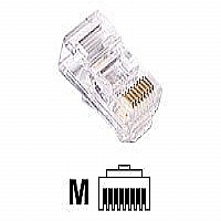 C2G Modular Plug - Network connector - RJ-45 (M) - CAT 5 - clear (01942)