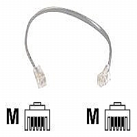 Belkin Pro Series Phone Line Cord - Phone cable - RJ-11 (M) - RJ-11 (M) - 2 ft - clear
