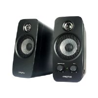 Creative Inspire T10 - Speakers - for PC - 10 Watt (total) - 2-way - glossy black
