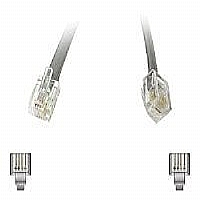 C2G Modular - Phone cable - RJ-12 (M) - RJ-12 (M) - 7 ft - stranded - silver