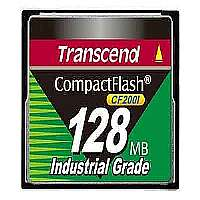 Transcend CF200I Industrial Grade 128 MB CompactFlash Card - (TS128MCF200I)