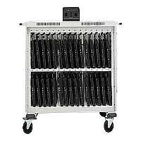 Bretford Basics Intelligent Notebook Storage Cart LAP30ULV-RN - Cart for 30 notebooks - steel - raven black
