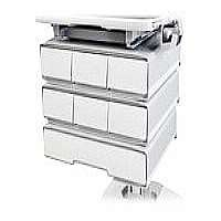 Ergotron SV32 PHD Storage Drawer - Mounting component ( sliding drawer ) - plastic, aluminum, zinc-plated steel - gray, white - for StyleView PHD Laptop Cart, 2, PHD LCD Cart, 1, PHD LCD Cart, 2, PHD