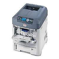 OKI C711wt - Printer - color - LED - Legal - 1200 x 600 dpi up to 34 ppm (color) - capacity: 630 sheets - USB 2.0, LAN