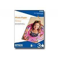 Epson - Heavy-weight glossy photo paper - bright white - 4 in x 6 in - 196 g/m2 - 100 sheet(s) - for Artisan 725; Stylus NX625; Stylus Color 900; WorkForce 32X, 63X, WF-2520, 2530, 2540, 3540