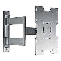 "Peerless Universal Full-Motion Plus Wall Mount PA740-S - Mounting kit ( articulating arm, mounting adapter, hook bracket ) for LCD TV ( Tilt & Swivel ) - high-gloss silver - screen size: 22"" - 40"" - m"