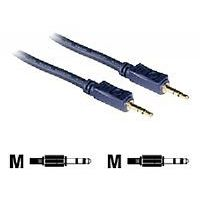 C2G Velocity - Audio cable - 27 AWG - mini-phone stereo 3.5 mm  (M) - mini-phone stereo 3.5 mm  (M) - 125 ft - shielded - blue