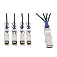 QSFP+ to 10 GbE SFP+ Passive DAC Breakout Cable (M