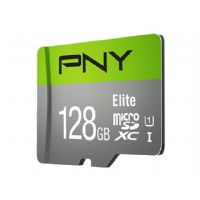 PNY Elite Memory Card - 128GB, UHS Class I, U1, Class10, MicroSDXC, Up to 85MB/s Reed Speed - P-SDU128U185EL-GE