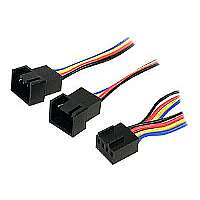 StarTech.com 4 Pin Fan Power Splitter Cable - Fan power splitter - 4 pin PWM (F) - 4 pin PWM (M) - 1 ft (FAN4SPLIT12)