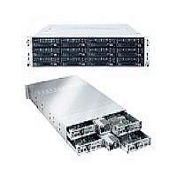 Supermicro SuperServer 6026TT-HIBXRF - 4 nodes - cluster - rack-mountable - 2U - 2-way - RAM 0 MB - no HDD - MGA G200eW - GigE, InfiniBand - Monitor : none
