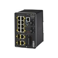 Cisco Industrial Ethernet 2000 Series - Switch - managed - 8 x 10/100 + 2 x combo SFP - DIN rail mountable