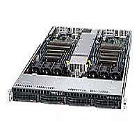 Supermicro SuperServer 6017TR-TF - 2 nodes - cluster - rack-mountable - 1U - 2-way - RAM 0 MB - no HDD - G200eW - GigE - Monitor : none