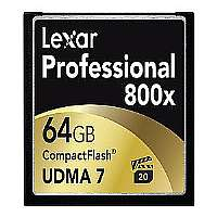 Lexar Professional - Flash memory card - 64 GB - 800x - CompactFlash