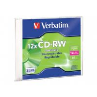 Verbatim - CD-RW - 700 MB ( 80min ) 4x - 12x - slim jewel case (95161)