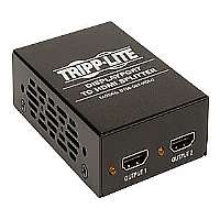 Tripp Lite B156-002-HDMI DisplayPort to HDMI Video Splitter, Multi-display adapter - Video/audio splitter - 2 x HDMI - desktop