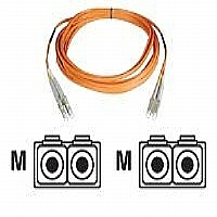 Tripp Lite - Patch cable - LC multi-mode (M) - LC multi-mode (M) - 330 ft - fiber optic - 50 / 125 micron - orange