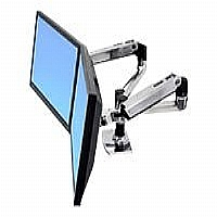 Ergotron LX Dual Side-by-Side Arm - Mounting kit ( desk clamp mount, grommet mount, 2 articulating arms, 2 extension brackets ) for LCD display - screen size: up to 24&quot; - mounting interface: 100 x 100