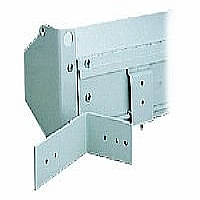 Optional floating mounting brackets from Da-Lite allow screen to be mounted onto wall or ceiling studs and aligned left or right after installation...