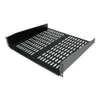 Add a sturdy, vented shelf into almost any server rack or cabinet. The CABSHELFV 2U 16in Depth Universal Vented Rack Mount Shelf lets you add a com...