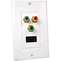 Cables Unlimited AUD-4920 White HDMI & Coaxial F Connector Wall Plate