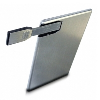Centon 16GB DataStick Credit Card USB Flash Drive - Solid-State, Slim Design, Aluminum Casing (DSC16GB-001)