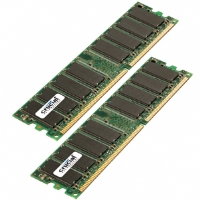 Crucial Dual Channel 1024MB PC2700 DDR 333MHz Memory (2 x 512MB)